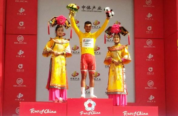 Luca Paioni vincitore 1^ Tappa e maglia gialla di leader della corsa a tappe