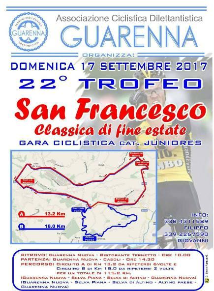 14.09.17 - Locandina - Trofeo San Francesco 17092017 locandina