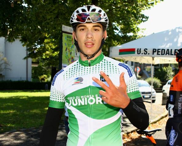 Luca Coati alla sua terza vittoria stagionale (Foto Berry)