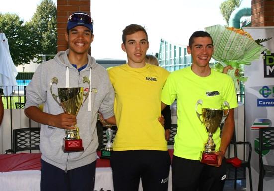 Da sx, Nova, Coati e Volpi, Podio del 59^ Trofeo Comune di Arcore (Foto Berry)