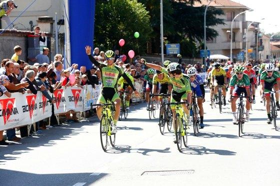 Arrivo del Trofeo Lampre a Bernareggio (Foto Pisoni)