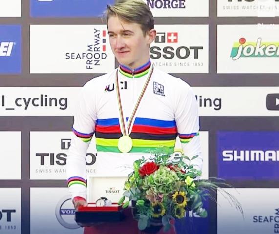 Mikkel Bjerg neo iridato U23 cronoindividuale
