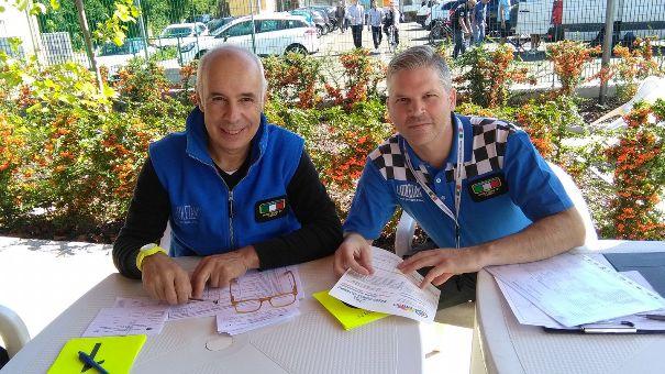 da sx Francesco Dottore e Simone Forni, Direzione di corsa a Sannazzaro (Foto Pisoni)