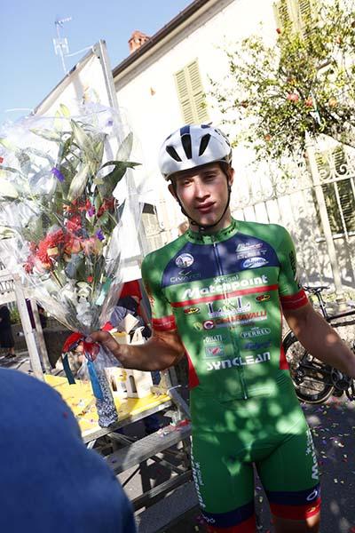 Imerio Cima vincitore del 64^ GP Ciclistico di Sannazzaro de Burgondi (Foto Pisoni)