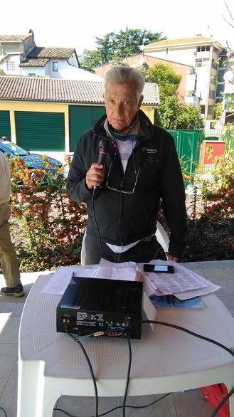 """Angelo Torti, """"La Voce della Bassa Valle Scrivia, Speaker di Sannazzaro de Burgondi (Foto Pisoni)"""