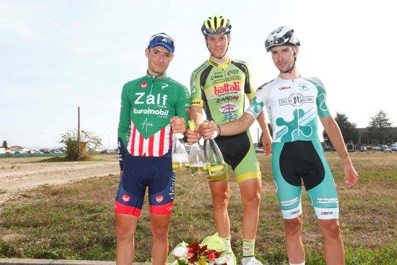 Podio di Alzano Scrivia da sx Luca Mozzato, Lonardi Giovanni e Umberto Marengo (Foto di Pisoni)