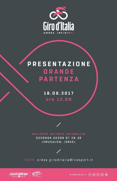 Presentazione Grande Partenza Giro d'Italia 2018