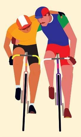 02.08.16 - due ciclisti stilizzati