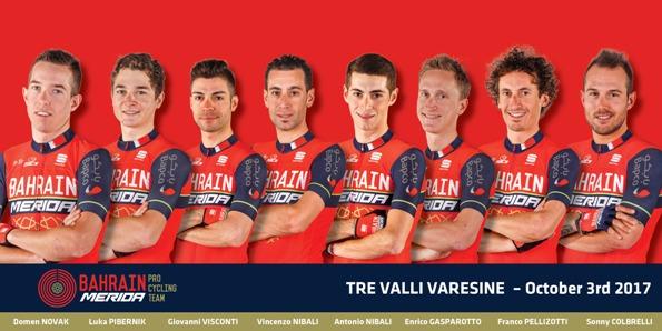 03.10.2017 - squadra Bahrai-Merida alla Tre Valli