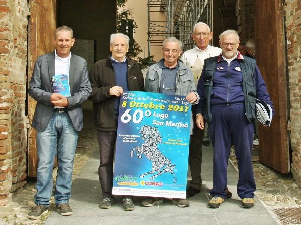 da sx, Pasquale Montalti, Aleano Balbi, Giorgio Tampieri, Giuseppe Bedrardi e Luigi Menegatti