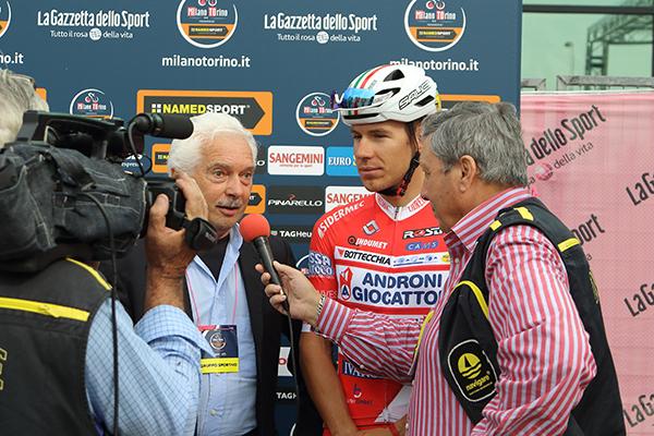 Gianni Savio intervistato da Fabrizio Biondo (Foto Kia Castelli)