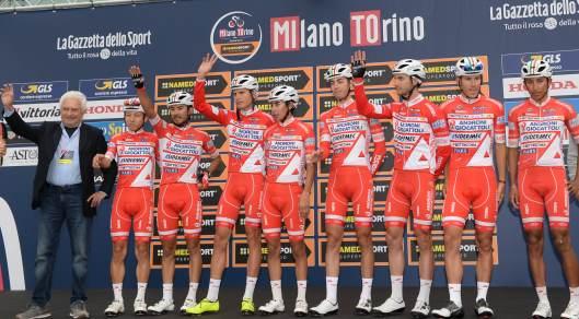 05-10-2017 Milano - Torino; 2017, Androni Giocattoli - Sidermec; Savio, Gianni; Ellena, Giovanni; San Giuliano Milanese;