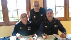 Da sx, Caspani, Leone e Tirriciello, Giuria FCI della gara (Foto Berry)