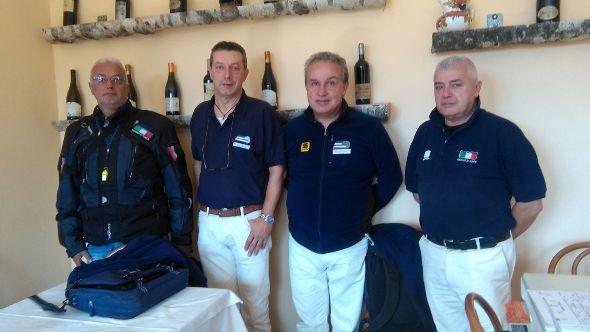 Giuria FCI della Como-Ghisallo Juniores (Foto Berry)