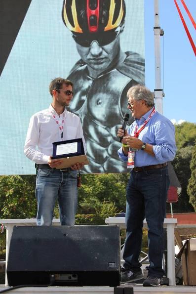 Premiazione Lorenzo Baldesi e Segretario Premio Fair Play Giorgio De Tomaso