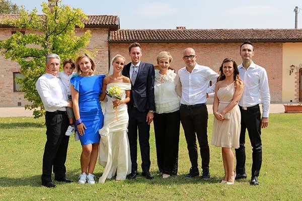 09°09°2017 - Gli Sposi con alcuni famigliari e, a sinistra, Beppe Saronni