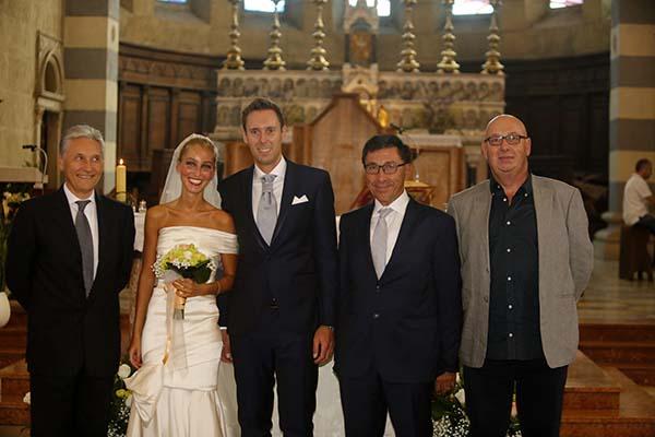 09°09°2017 - Da sx, Giuseppe Saronni, gli Sposi, Antonio e Alberto Saronni