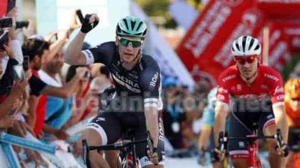 Marco Benfatto (Androni Giocattoli-Sidermec-Bottecchia) secondo nella 1^ Tappa del Giro di Turchia