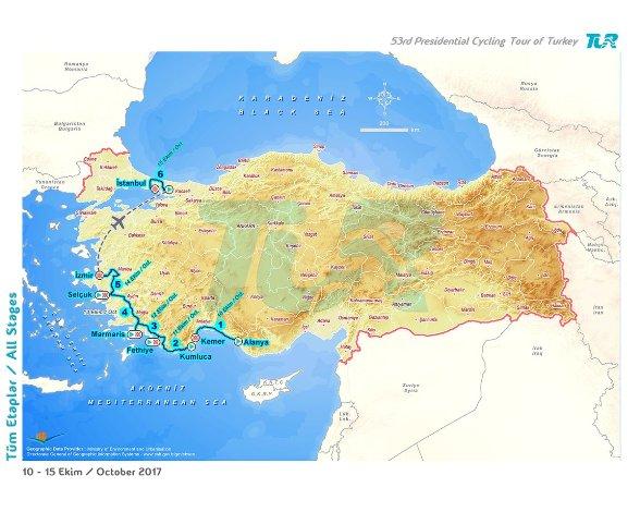 Planimetria del 53° Giro della Turchia