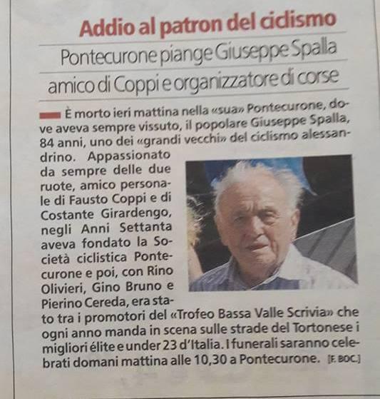 15.10.2017 - Morte di Giuseppe Spalla
