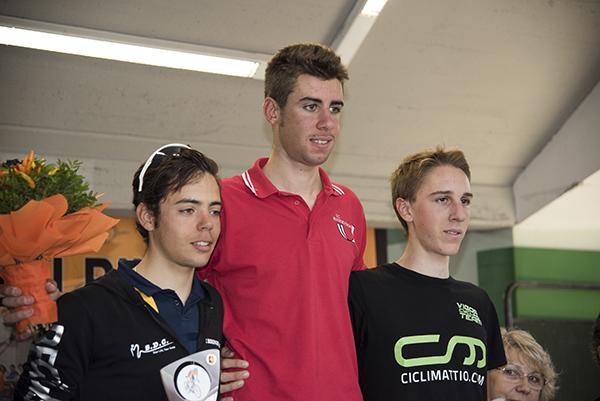 Da sx, Colnaghi, Puppio e Pietro Olocco, Podio 40° Trofeo Caduti Besnatesi (Foto Kia Castelli)