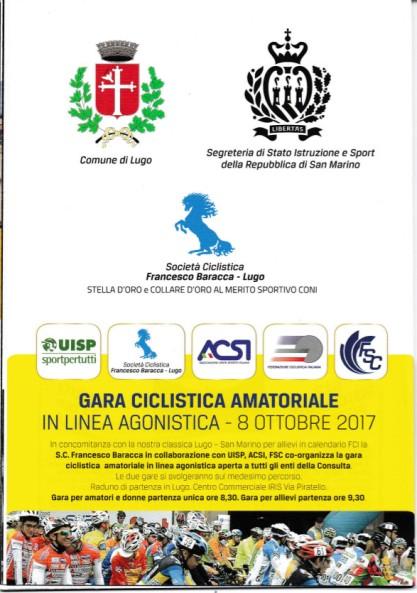 22.09.2017 - Locandina 60^ Lugo-San Marino