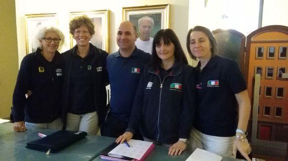 da sx, Elena Merelli, Rosella Bonfanti, Gianni Passarelli, Federica Guarniero e Loredana Mollo (Foto Nastasi)