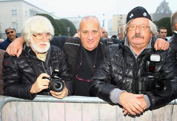 Da sinistra Eugenio, Kia e Pisoni, tre Fotoreporter alla 96° Coppa D'Inverno (Foto Berry)