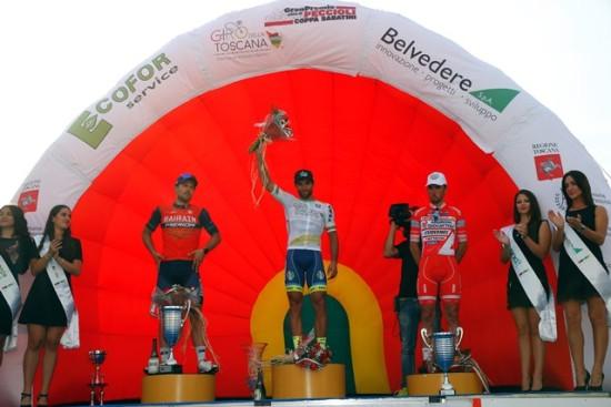 Gran Premio Città' di Peccioli - Coppa Sabatini 2017 - 65th Edition - Peccioli - Peccioli 195,9 km - 28/09/2017 - Sonny Colbrelli (ITA - Bahrain - Merida) - Andrea Pasqualon (ITA - Wanty - Groupe Gobert) - Francesco Gavazzi (ITA - Androni Giocattoli - Sidermec) - photo Luca Bettini/BettiniPhoto©2017