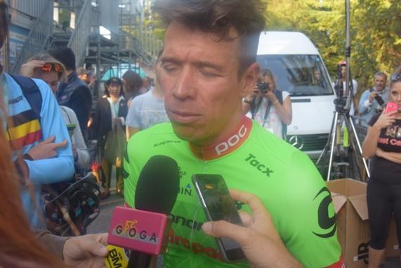 Rigoberto Uran 3^ classificato Giro Emilia nr. 100 (Foto Trovati)