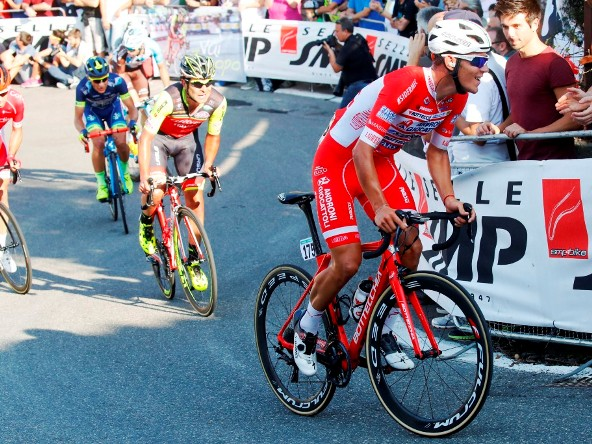 Giro dell' Emilia 2017 - Davide Ballerini sul San Luca guida la fuga di giornata