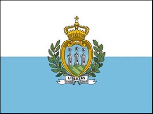 San Marino bandiera e stemma
