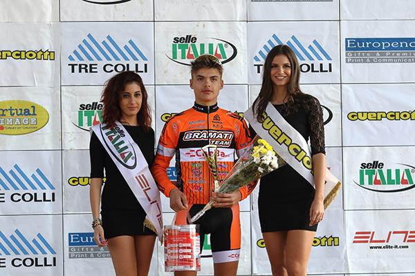 Gioele Solenne vincitore gara Allievi 1° anno (Foto Kia)