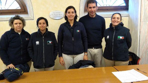 da sx, Sonia Zardin, Valentina Regolo, Anna Galuppini, Matteo Martani e Francesca Tonelli, GIuria FCI Ciclocross Marcaria (Foto Nastasi)