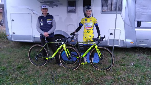 Marco Pavan, 5^ classificato, qui col padre Massimo (Foto Nastasi)