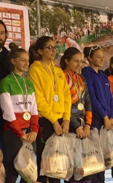 Podio Donne Esordienti da sx, Recalcati,Brafa, Ceriello e Martina Sanfilippo (Foto Nastasi)