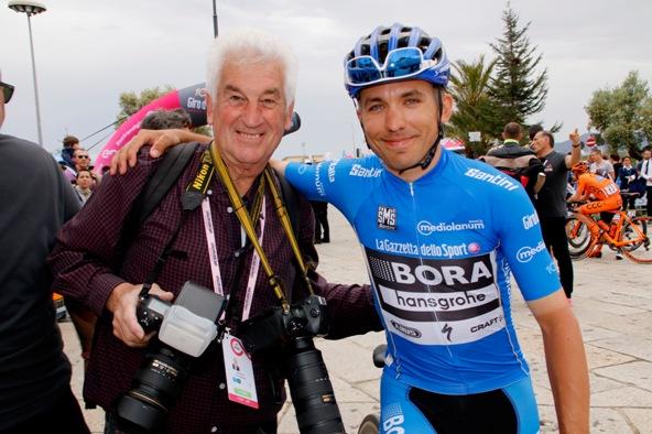 Il Fotoreporter Remo Mosna e il leader provvisorio del GPM, Cesare Benedetti (Photobicicailotto)