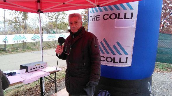 Lo Speaker Angelo Torti in postazione a Pasturana (Foto Nastasi)