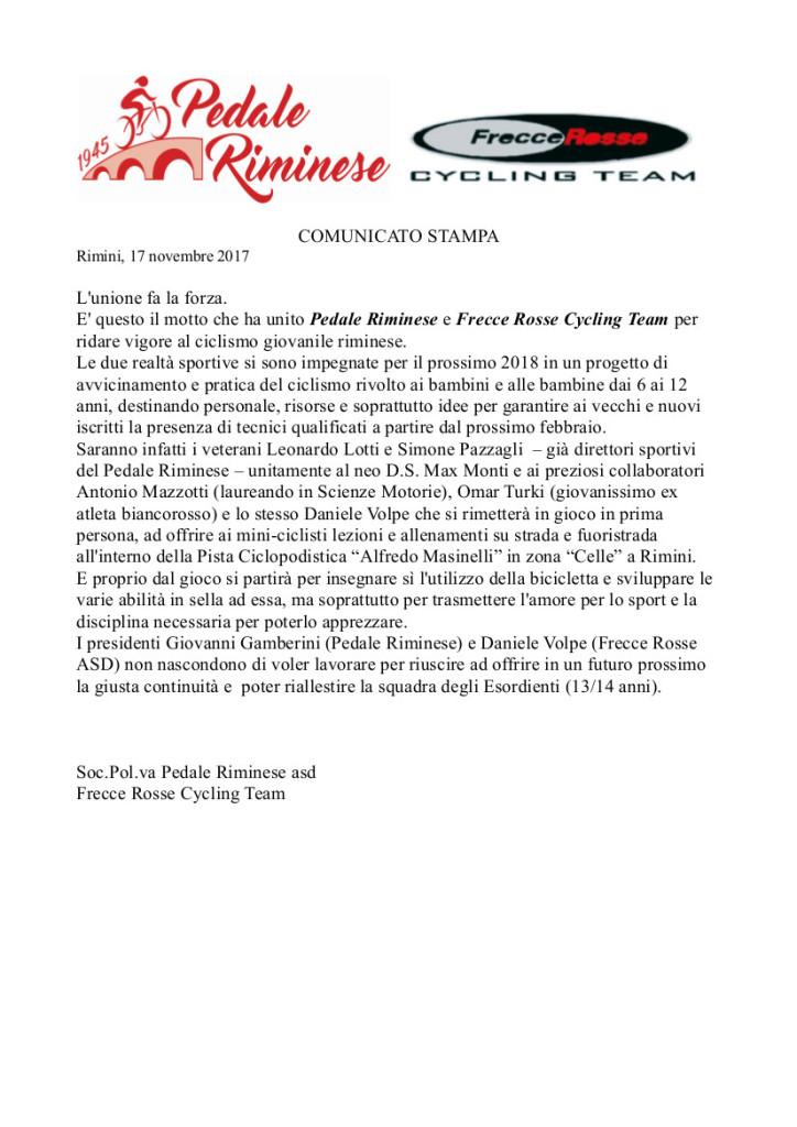 17.11.2017 - comunicato stampa