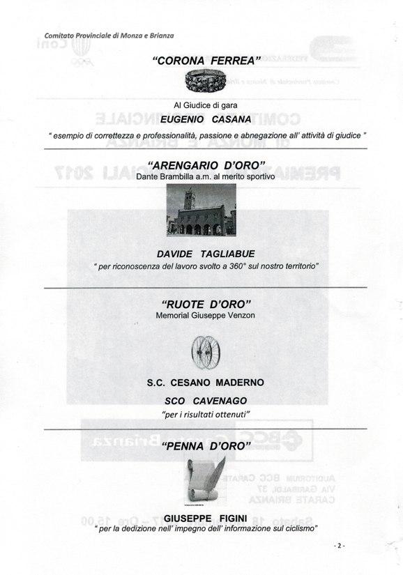18.11.2017 - lOCANDINA Corona, Arengario, Ruote, Penna