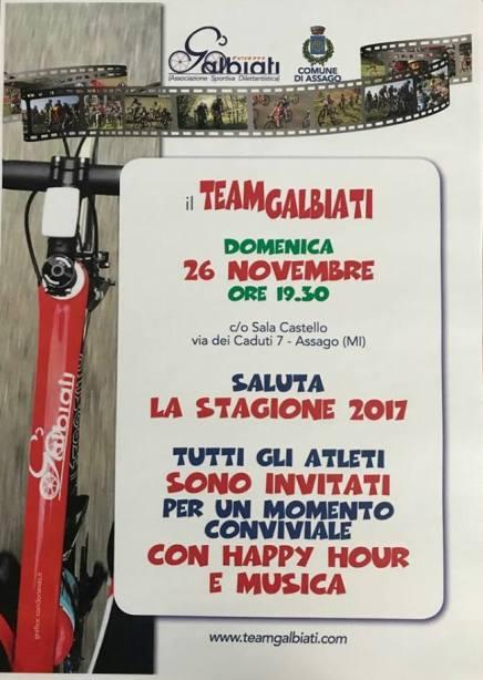 23.11.2017 - Locandina festicciola sociale di domenica 26.11.2017