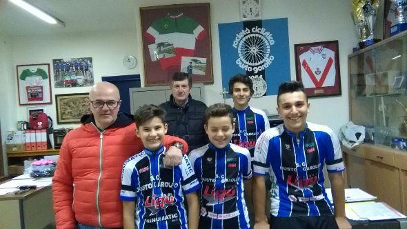 I Direttori Sportivi Croci e Venegoni con Laghi, Bon, Belletta e Lazzarin (Foto Nastasi)