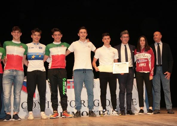 I Campioni Nazionali ed Europeo (Mtb) premiati (Foto Cesare Galeazzi)