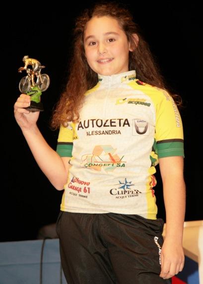Carola Ivaldi GH2F terza classificata del Pedale Acquese (Foto Cesare Galeazzi)