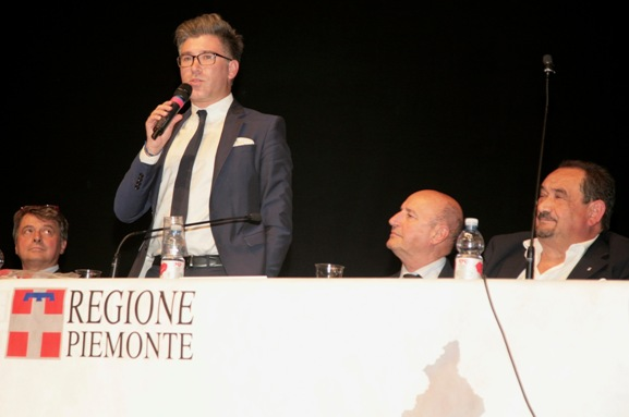 Giovanni Vietri, Presidente CR-FCI Piemonte nel suo discorso introduttivo (Foto Cesare Galeazzi)
