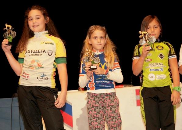 Una premiazione ciclogirls (Foto Cesare Galeazzi)