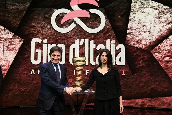 Presentazione del Giro d'Italia 2018 - URBANO CAIRO E VIRGINIA RAGGI