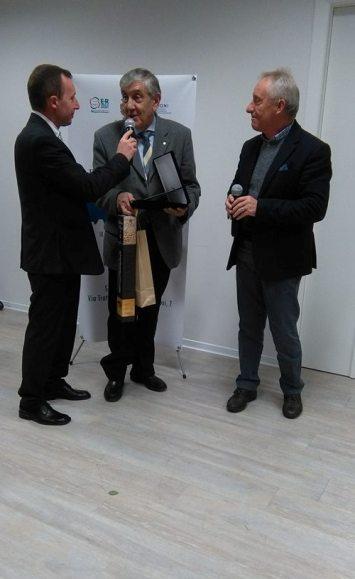 Eugenio Salvoldi riceve il Premio Fair Play per il figlio Dino CT della Nazionale Femminile (Foto Nastasi)