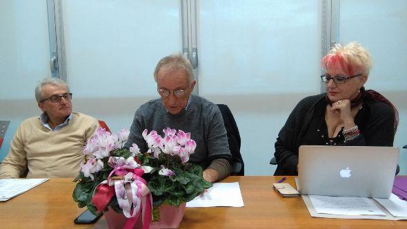 Casadei, Dattaro e Daniela Isetti (Foto Nastasi)