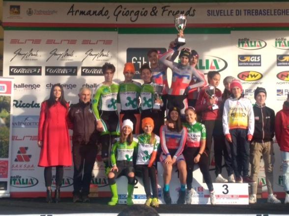 Da sx, Lombardia, Piemonte e Veneto, Podio Coppa Italia Ciclocross